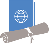 Book and scroll icon