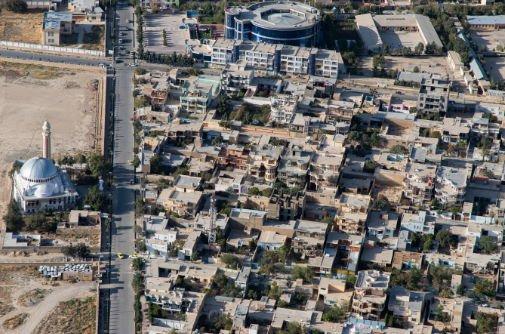 aerial photo of city in Afghanistan
